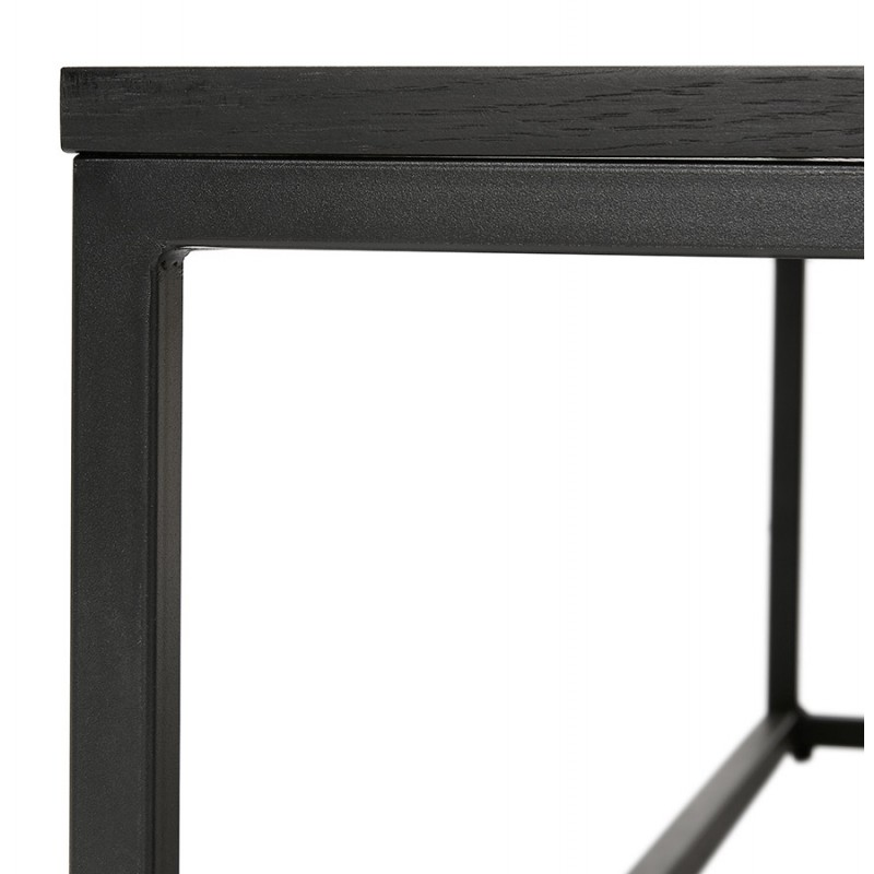 Table basse design industrielle en bois et métal noir ROXY (noir) - image 48372