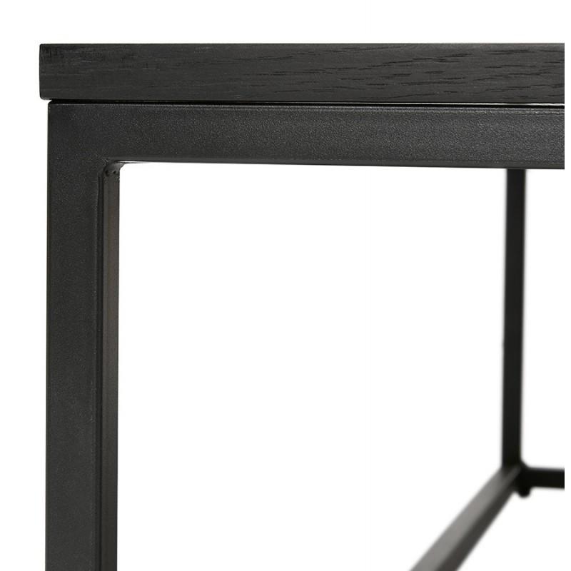Tavolino da caffè ROXY (nero) di design industriale - image 48372