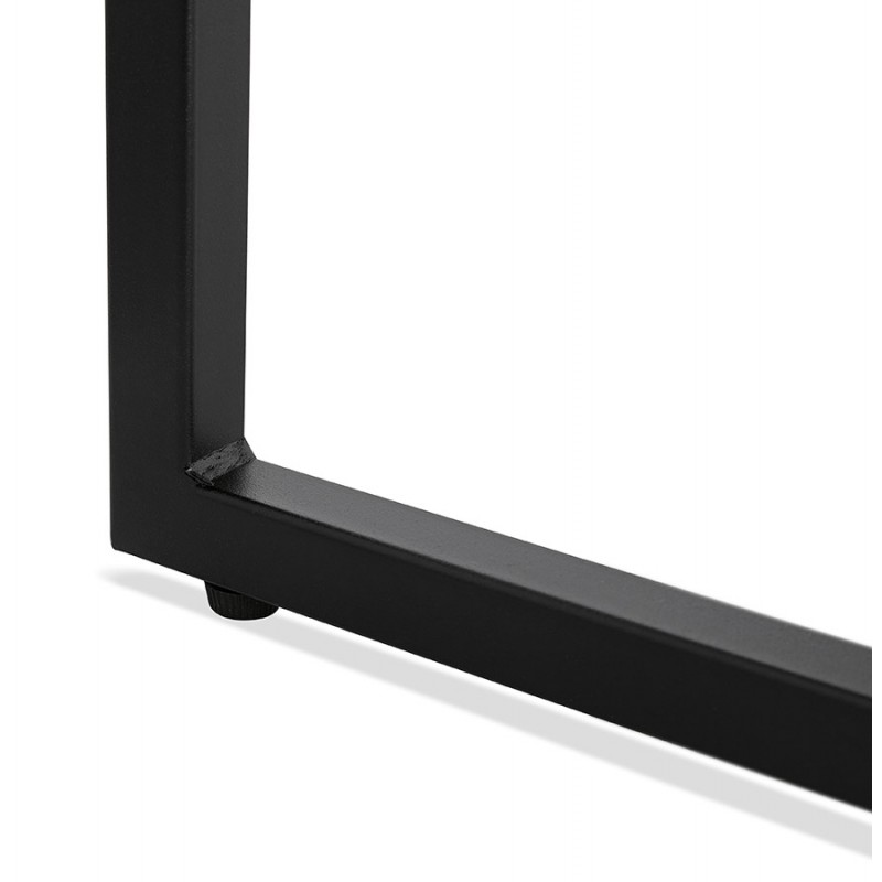 Table basse design industrielle en bois et métal noir ROXY (noir) - image 48373