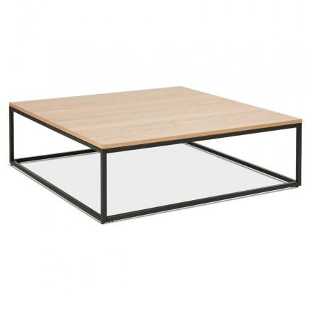 Tavolino in legno ROXY e metallo nero (finitura naturale)