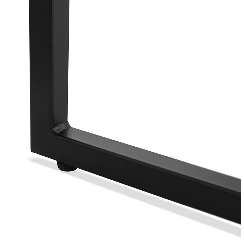 Mesa de centro de diseño de madera y metal negro ROXY (acabado natural) - image 48380