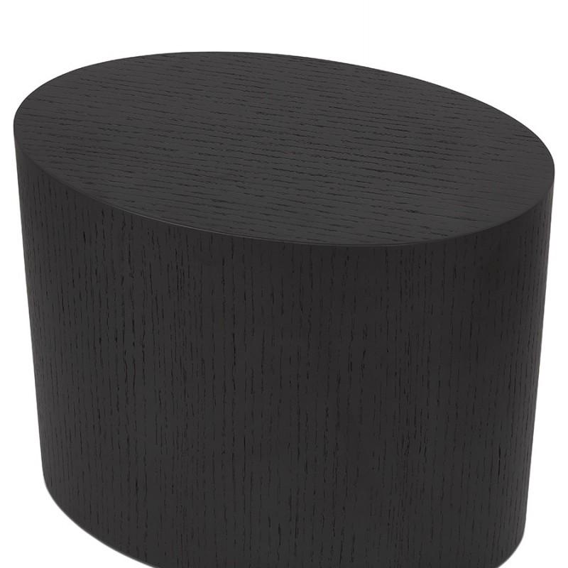Conjunto de 2 mesas laterales diseño madera russeL (negro) - image 48398
