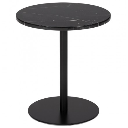 ROXANE (schwarz) runder Marmor Design Beistelltisch