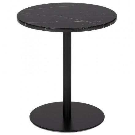 Tavolo laterale GEMo rotondo ROXANE (nero)