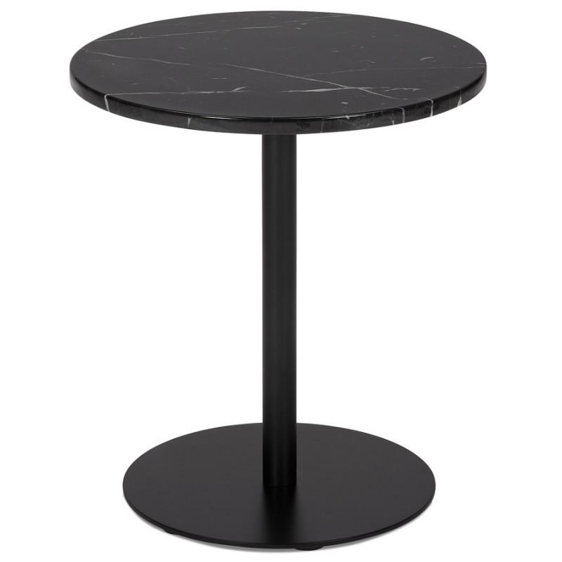 Table d'appoint design ronde en marbre ROXANE (noir) - image 48409