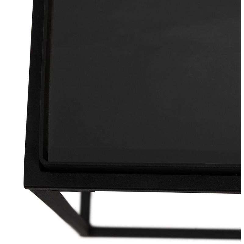 RAQUEL MINI vetro e metallo tavolo laterale (nero) - image 48429