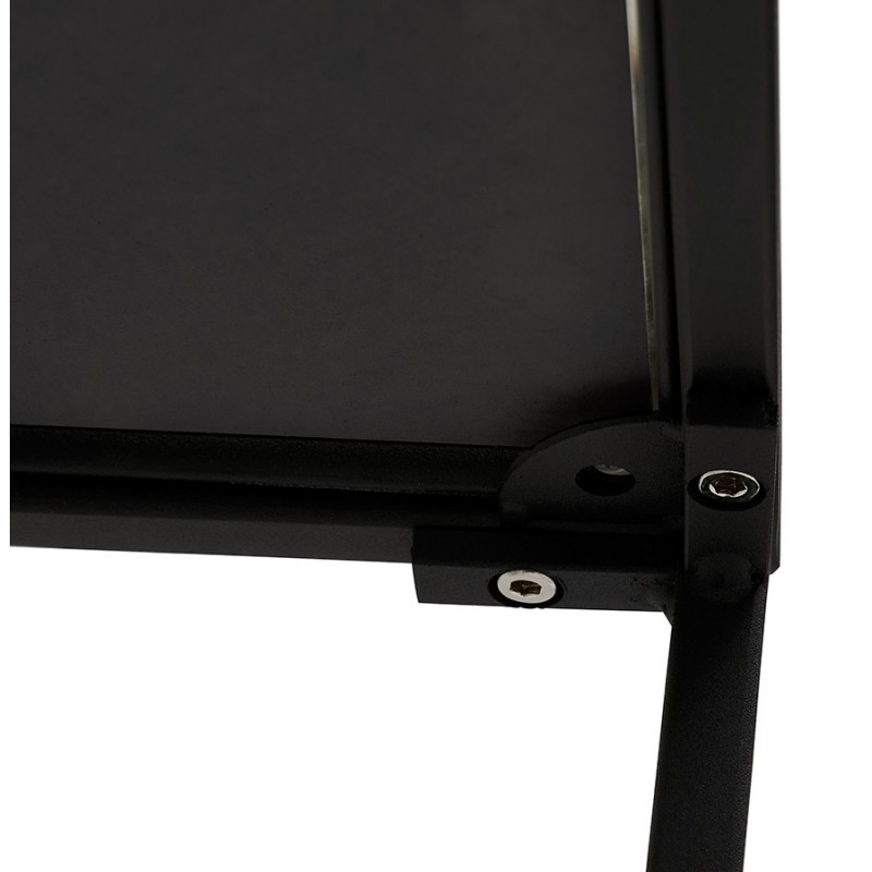 Mesa auxiliar de diseño de vidrio y metal RAQUEL MINI (negro) - image 48432