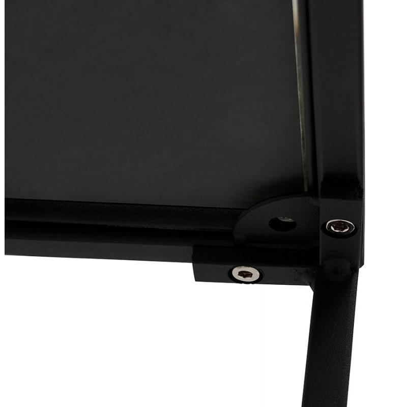RAQUEL MINI glass and metal design side table (black) - image 48432