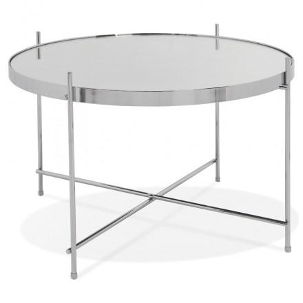 Design coffee table, RYANA MEDIUM side table (chrome)