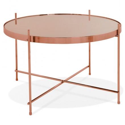 Mesa de centro de diseño, mesa auxiliar RYANA MEDIUM (cobre)