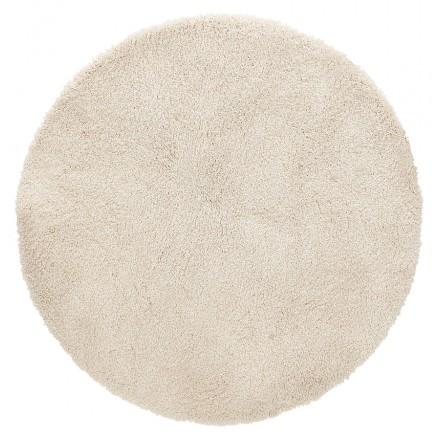 Runder Designteppich (200 cm) SABRINA (beige)