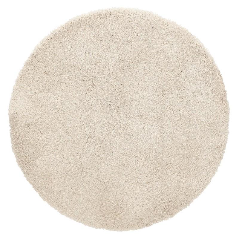 Alfombra de diseño redondo (200 cm) SABRINA (beige)