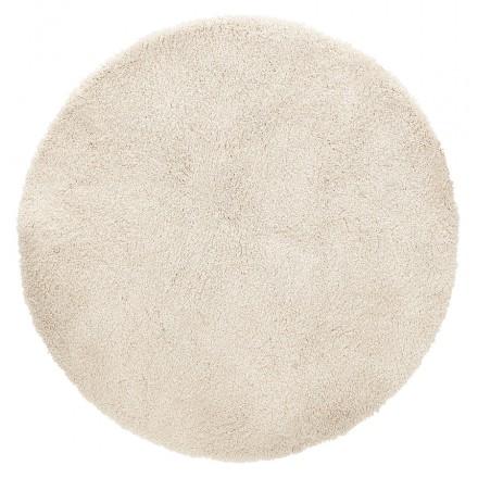 Tappeto rotondo (160 cm) SABRINA (beige)