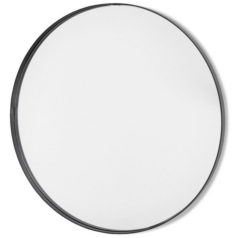 Metal round design mirror (60.5 cm) PRISKA (black) - image 48598