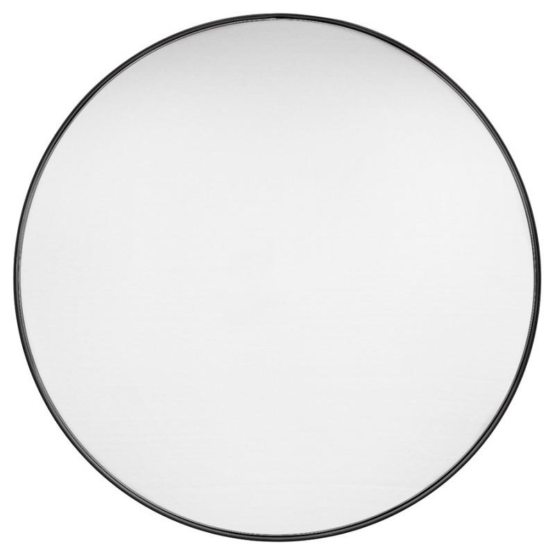 Metal round design mirror (60.5 cm) PRISKA (black) - image 48599