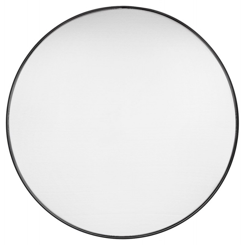 Metall rund DesignSpiegel (60,5 cm) PRISKA (schwarz) - image 48599