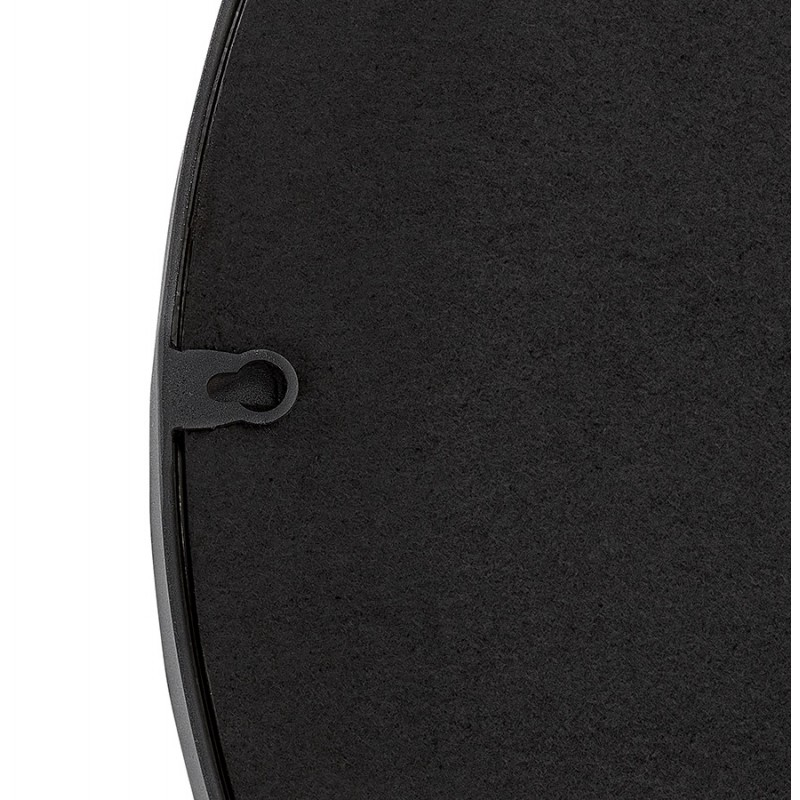 Metal round design mirror (60.5 cm) PRISKA (black) - image 48603