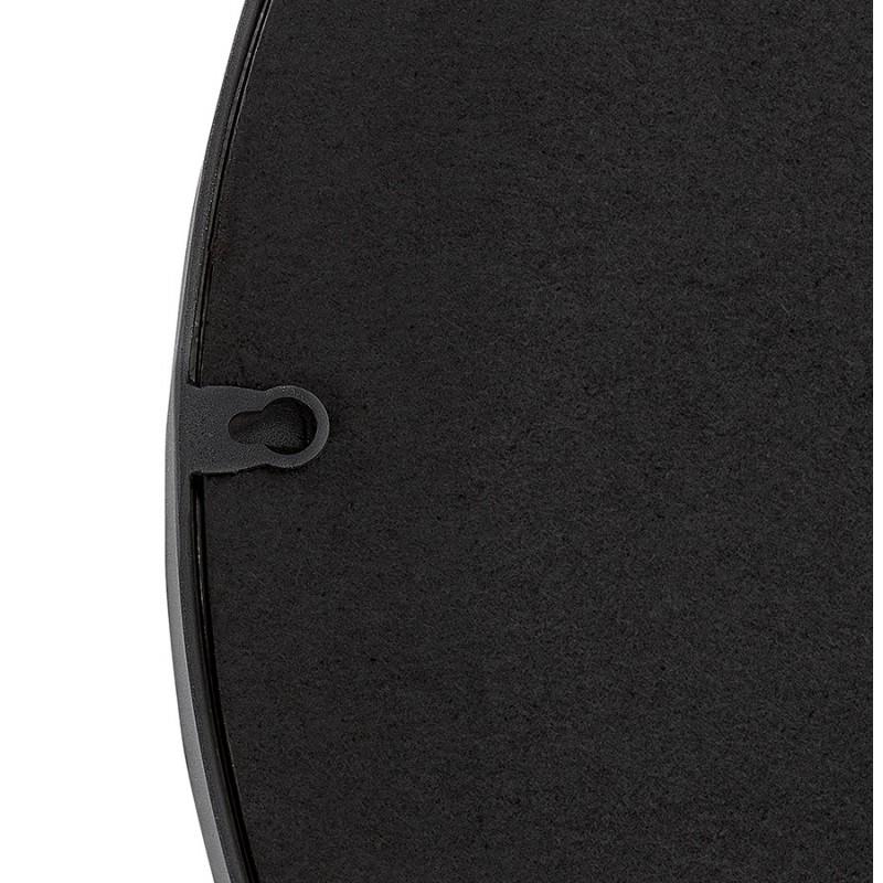 Metall rund DesignSpiegel (60,5 cm) PRISKA (schwarz) - image 48603