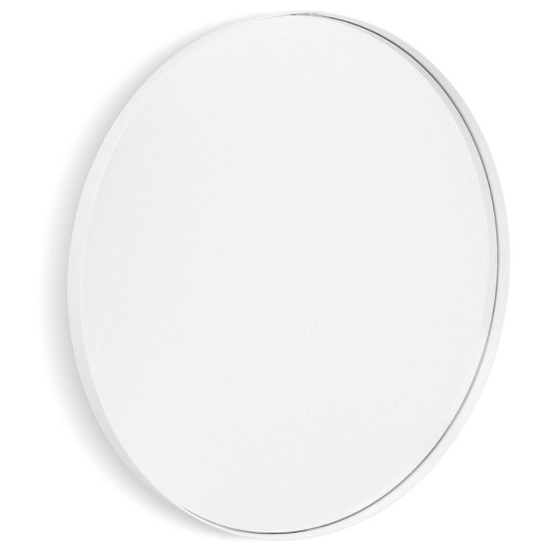Miroir design rond en métal (Ø 60,5 cm) PRISKA (blanc)