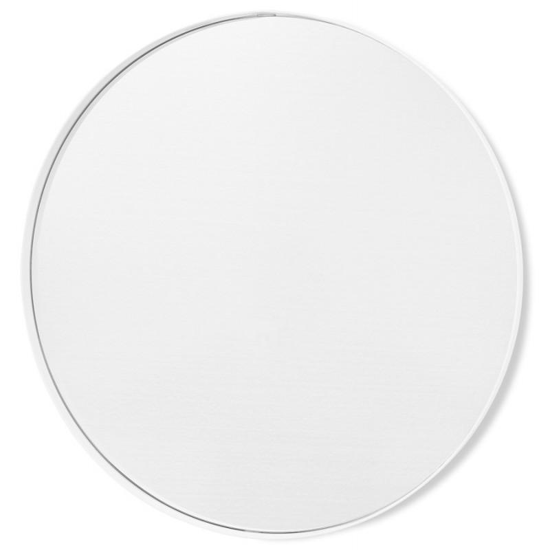Miroir design rond en métal (Ø 60,5 cm) PRISKA (blanc) - image 48605