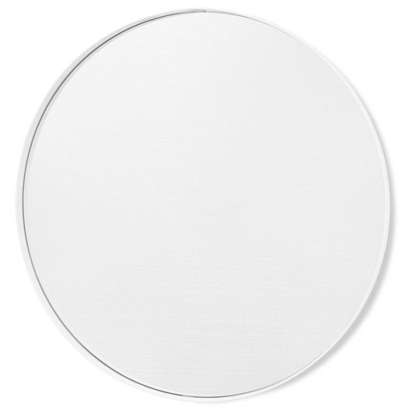 Metal round design mirror (60.5 cm) PRISKA (white) - image 48605