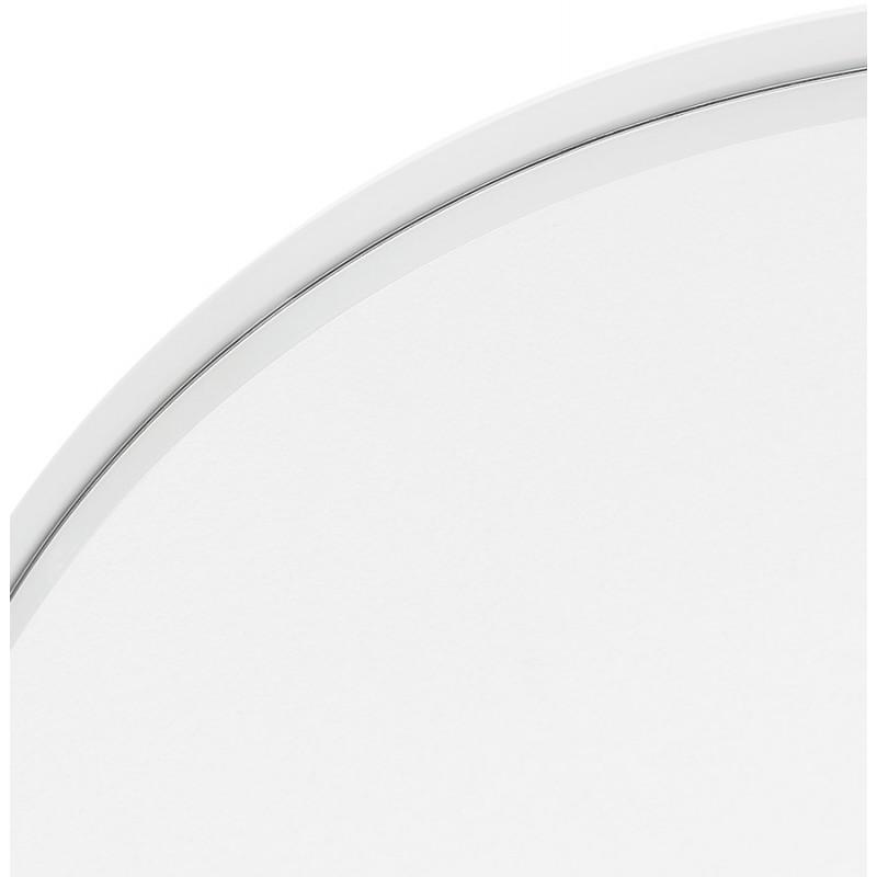 Miroir design rond en métal (Ø 60,5 cm) PRISKA (blanc) - image 48608