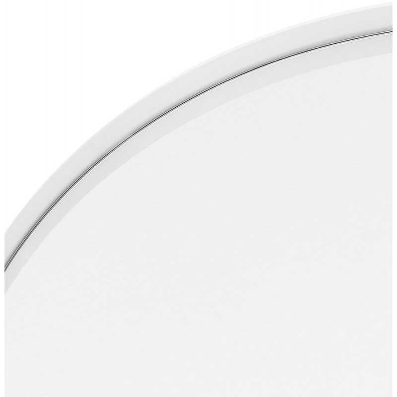 Metal round design mirror (60.5 cm) PRISKA (white) - image 48608