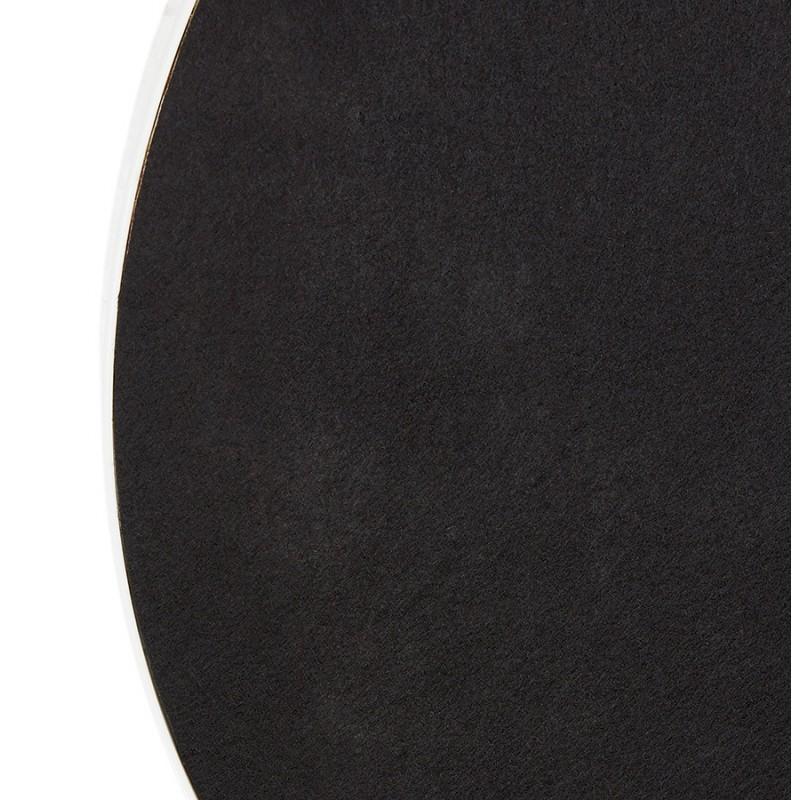 Miroir design rond en métal (Ø 60,5 cm) PRISKA (blanc) - image 48610