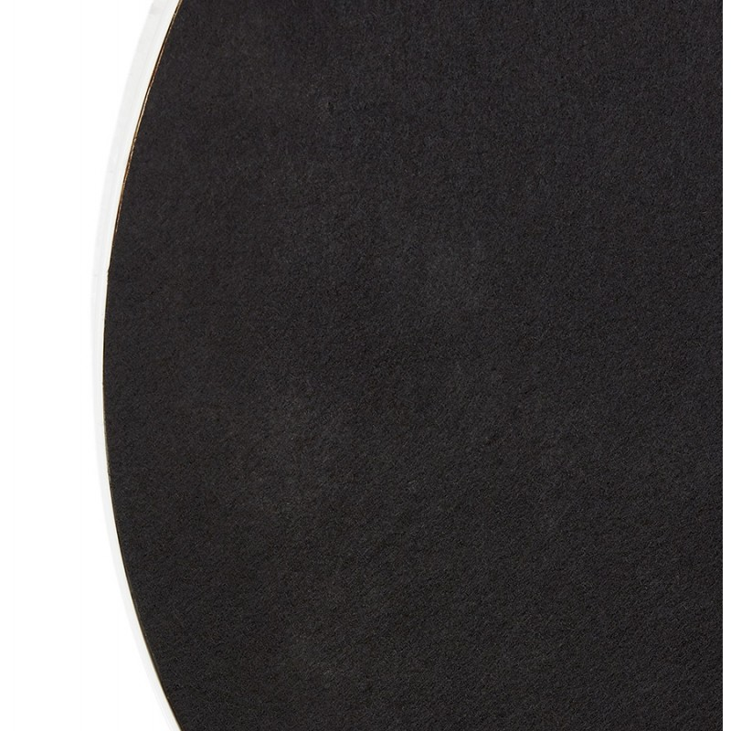 Metal round design mirror (60.5 cm) PRISKA (white) - image 48610