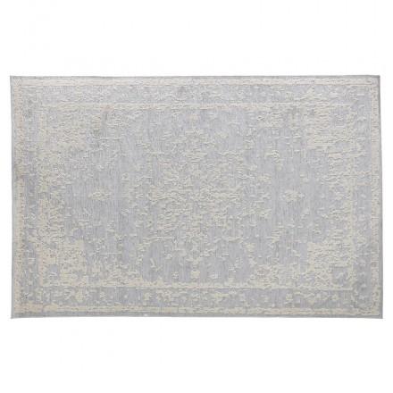 Rechteckiger böhmischer Teppich - 160x230 cm - IN SHANON Wolle (hellgrau)