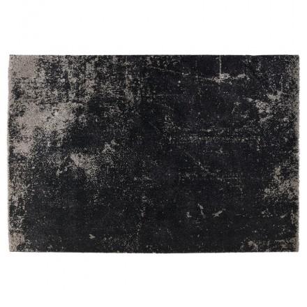 Tapis design rectangulaire - 160x230 cm - TAMAR (noir, gris)