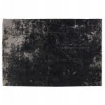 Rechteckiger Designteppich - 160x230 cm - TAMAR (schwarz, grau)