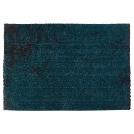 Tapis design rectangulaire - 160x230 cm - YLONA (bleu, noir)