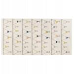 Alfombra rectangular para niños - 80x150 cm - HARISH (beige)