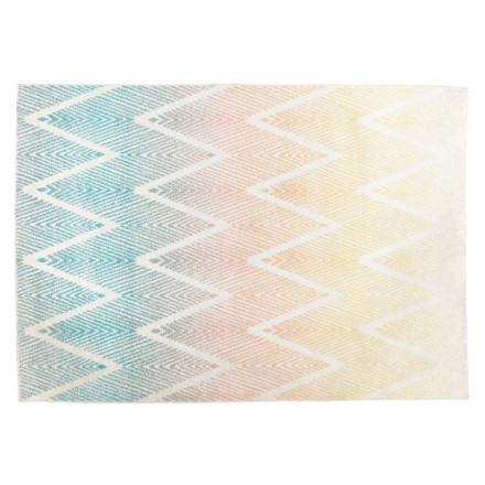 Tapis graphique rectangulaire - 160x230 cm - ZIGZAG (multicolore)
