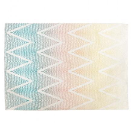 Tappeto grafico rettangolare - 160x230 cm - zig-AG (multicolore)