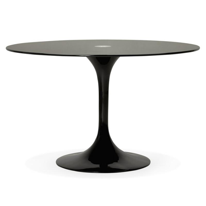 Mesa redonda de vidrio y mesa de comedor metálica (120 cm) URIELLE (negro) - image 48746