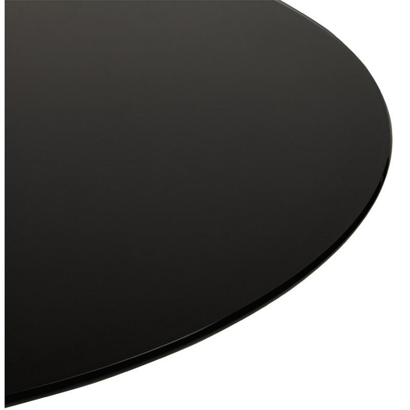 Mesa redonda de vidrio y mesa de comedor metálica (120 cm) URIELLE (negro) - image 48748