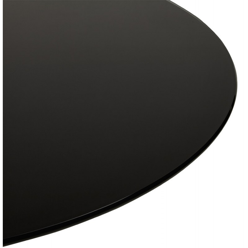 Table à manger ronde en verre et métal (Ø 120 cm) URIELLE (noir) - image 48748