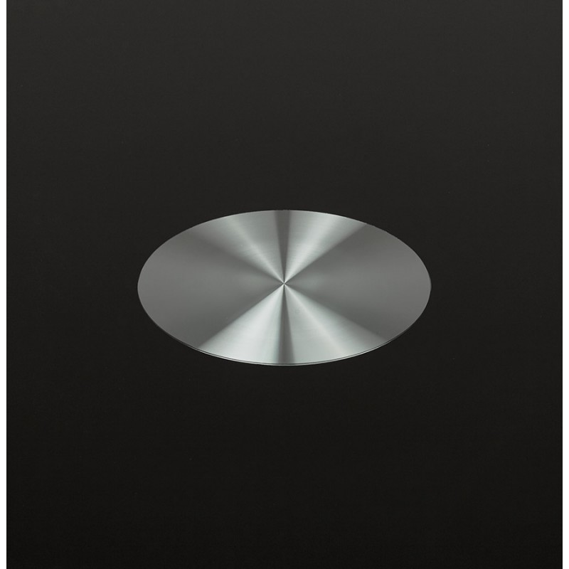 Table à manger ronde en verre et métal (Ø 120 cm) URIELLE (noir) - image 48750