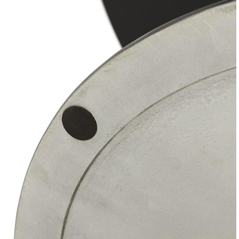 Mesa redonda de vidrio y mesa de comedor metálica (120 cm) URIELLE (negro) - image 48752