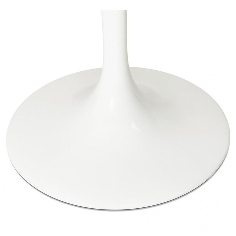 Table à manger ronde en verre et métal (Ø 120 cm) URIELLE (blanc) - image 48760