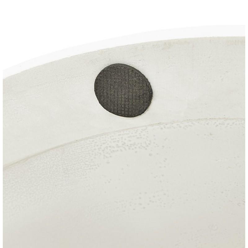 Table à manger ronde en verre et métal (Ø 120 cm) URIELLE (blanc) - image 48761