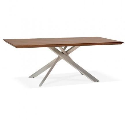 Disegno in acciaio spazzolato in legno e metallo (200x100 cm) CATHALINA (annegamento)