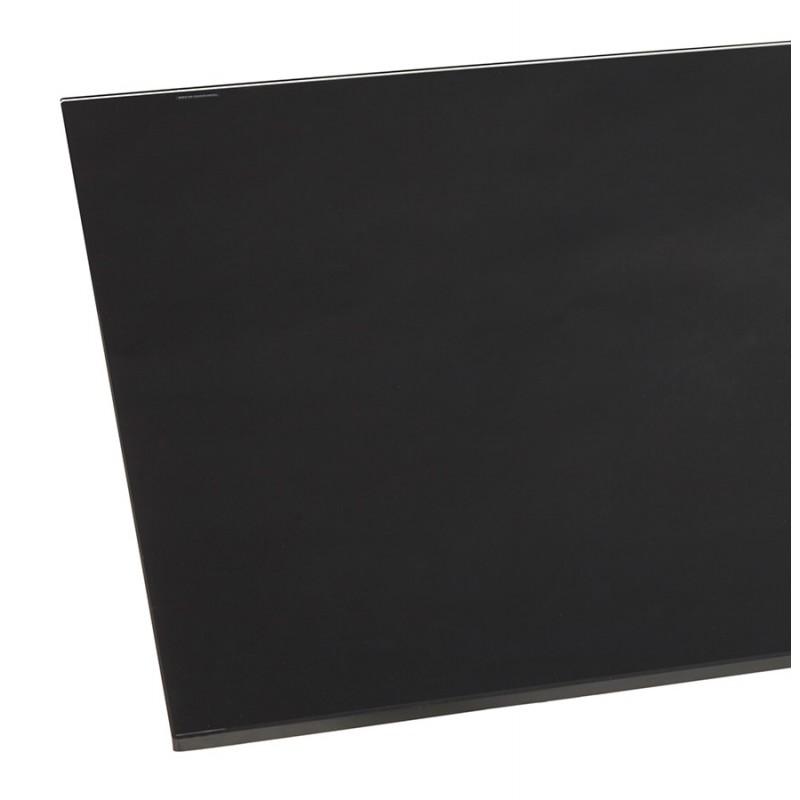 Mesa de comedor de diseño de vidrio y metal blanco (200x100 cm) WHITNEY (negro) - image 48838