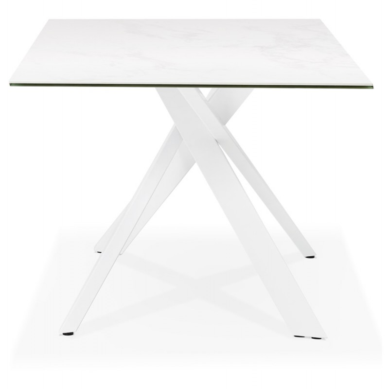 Design in ceramica e metallo bianco (180x90 cm) FLORINA (bianco) - image 48858
