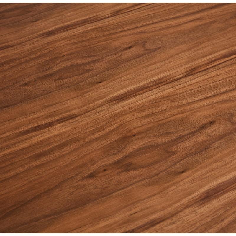 Table à manger design en bois et métal blanc (200x100 cm) CATHALINA (noyer) - image 48871