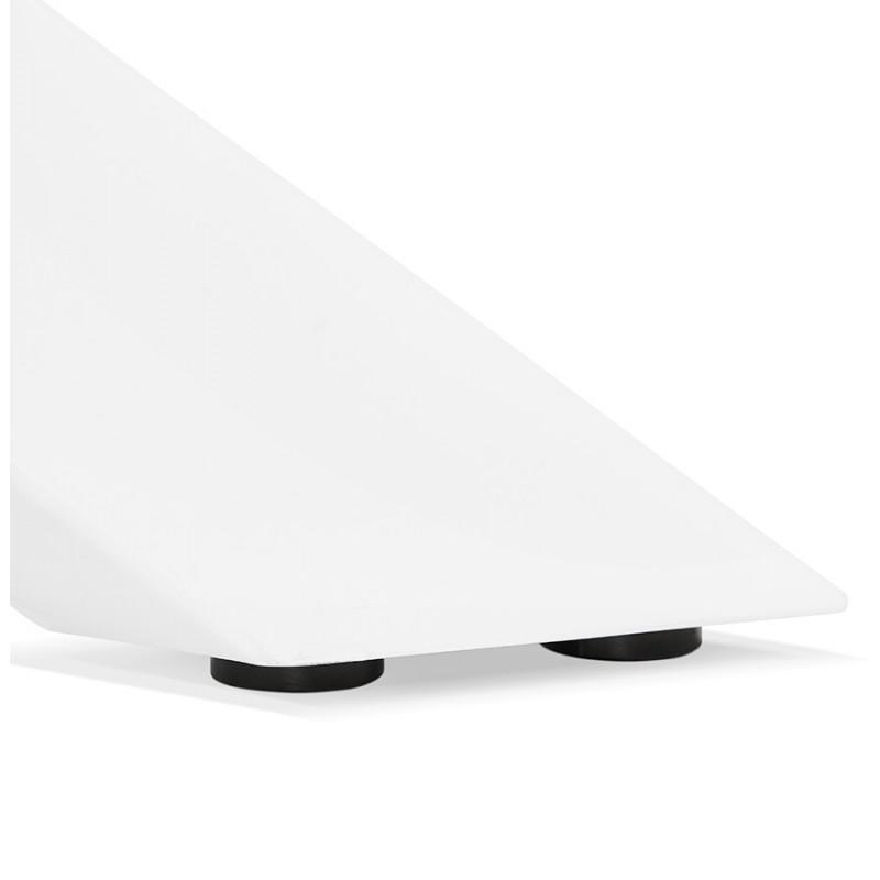 Table à manger design en bois et métal blanc (200x100 cm) CATHALINA (noyer) - image 48874