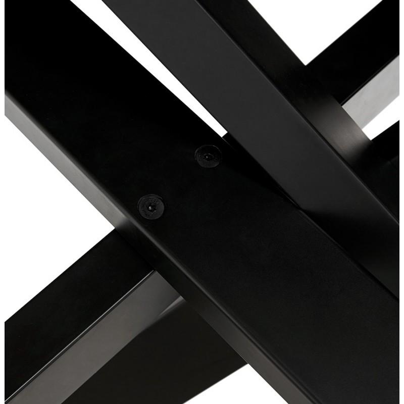 Mesa de comedor de diseño cerámico y negro metálico (180x90 cm) FLORINA (blanco) - image 48919
