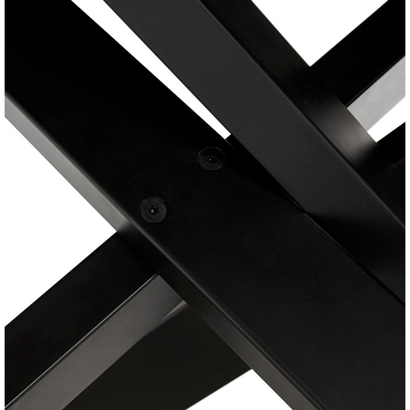 Table à manger design en céramique et métal noir (180x90 cm) FLORINA (blanc) - image 48919